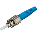 Photo of  Senko 215-103-L1 Premium 125um SingleMode ST Fiber Connector with Blue 3mm Boot