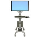 Ergotron 24-189-055 Neo-Flex WideView WorkSpace Monitor Stand/Cart