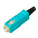 Senko 254-291-5L2 UPC  - 127um MultiMode 3mm SC Connector - Aqua - Black Boot