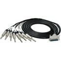 Sescom 25MA-TRS-C05 Audio Cable Canare Analog 25-Pin D-Sub Male to 8 1/4 TRS Balanced Male w/ 18in. Fanouts - 5 Foot