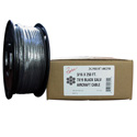 Fehr Brothers 2G7B062-00250 1/16 x 250 Foot 7x7 Black Galvanized Aircraft Cable