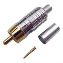 Crimp Style RCA Connector for 8218 Size Coax