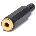 Gold Stereo Mini inline 3.5 mm Stereo Audio Jack