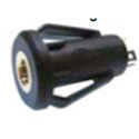 2.5mm 2-Conductor TS Chassis Mount Snap-in Jack