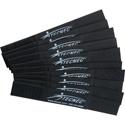 TecNec by Cord-Lox 1 Inch x 7 Inch Hook & Loop Closed Loop Cable Tie Wrap 10 Pack Black