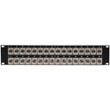 My Custom Shop 32CJ-JRU 2RU 32-Point Recessed BNC Feedthru Patch Panel