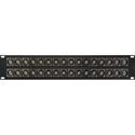 My Custom Shop 32XB/R-HD 32-Port Recessed Neutrik 75 Ohm 12G SDI BNC Feedthrough Patch Panel - 2RU
