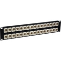 My Custom Shop 32XBNCR-CAN 32-Port 4K 12G-SDI Feed-Through Recessed BNC Patch Panel - 2RU