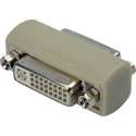 DVI 29-Pin Female to Female Chassis Mount Barrel Adapter for Standard DB-15 Cutout