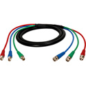 Laird 3B-3BF-3 Canare V3-4CFB 3-Channel BNC Male to BNC Female 3G-SDI Video Snake Cable - 3 Foot