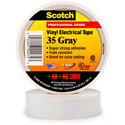 3M Scotch 35 Color Coding Electrical Tape 1/2 Inch x 20 Feet Gray