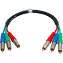 Laird 3RCA-1.5 Canare V3-3C 3-Channel RCA Component Cable - 18 Inch