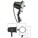 Smith Victor 765-UM 600-Watt Quartz Light with Umbrella Mount