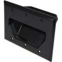 Datacomm 3 Gang Recessed Low Voltage Cable Plate- Black
