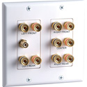Datacomm 45-0060 2-Gang 5.1 Surround Sound Wall Plate White