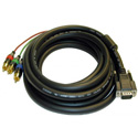 RGB Video Cable w/ HD15 Male to 3 RCA Males 20ft