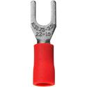 22-16  AWG Crimp Terminal #6 Spade 100 Pack Red