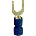 16-14 AWG Crimp Terminal #8 Spade 100 Pack Blue