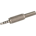 Photo of 3.5mm TRRS 4 Conductor Low Profile All Metal Audio & Video Connector