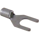 NTE 76-ST12-08L Non Insulated Spade Terminal 12-10Awg #8 Stud Tin Plated Copper Brazed Seam 50/Pkg