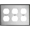 My Custom Shop 97103 3-Gang Triple Duplex Stainless Steel Wall Plate