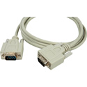 DB-9 Serial Male - Male Molded Cable 3ft Beige