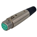 Switchcraft A6F 6 Pin Female XLR Cable Connector