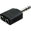 1/4 Stereo Phone Plug to 2 1/4 Stereo Jack Audio Adapter