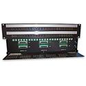 AAI WDBP-242-SH 96pt 1/4 Inch Longframe Weco Style Input - Tascam DB25 Pin D-sub Rear Patchbay - 2 RU Rack Height