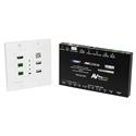 AVPro Edge AC-CXWP-KVM-KIT ConferX HDMI and Bi-Directional USB Wall Plate Transmitter and Receiver via HDBaseT Kit