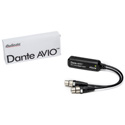 Audinate ADP-DAI-AU-2X0 Dante AVIO Analog Input Adapter w/ RJ45 & 2 XLR females 2 channel version 2x0 Bstock (Show Used)