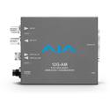 AJA 12G-AM-R 12G-SDI 8-Channel AES Embedder/Disembedder with LC Fiber Rx SFP