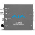 AJA 12G-AM-TR 12G-SDI 8-Channel AES Embedder/Disembedder with LC Fiber TR SFP