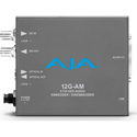 AJA 12G-AM 12G-SDI 8-Channel AES Audio Embedder/Disembedder with SFP Port