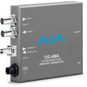 AJA 12G-AMA-T-ST 12G-SDI Mini Converter with 4-Channel Audio Embed/Disembed - ST Fiber Transmitter