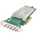 AJA CRV44-BNC-NF 8-Lane PCIe 2.0 - 4-Channel I/O Card  - Fanless Passive Cooling - 4K Capable with Cables