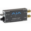 AJA FiDO-T-ST 1-Channel SDI to ST Fiber Converter with Looping SDI Out