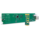 AJA OG-FIDO-2T-X 2-Channel 3G-SDI to Single Mode LC Fiber Transmitter for CWDM - DashBoard Support - SFP Required