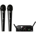 AKG 3350X00060 WMS40 Mini Dual Vocal Set Wireless Mic System - Band US25-B/D