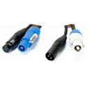 ADJ AC3PPCON12 3-pin XLR & Powercon Combo Link DMX Cable - 12 Foot