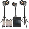 ADJ Basic Stream Pak includes 3 x ADJ Encore FR50Z/3 x ADJ LTS-6/1 x ADJ SDC12/3 x Accu-Cable AC3PDMX15