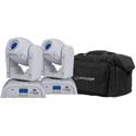 ADJ POCKET PRO PEARL PAK System with 2 ADJ Pocket Pro Moving Heads and 1 F4 Par Bag