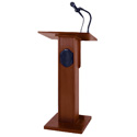 Amplivox S355MH Elite Lectern with Sound System - Mahogany