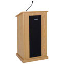 AmpliVox S470-MP Chancellor Lectern - Wired Sound - Maple