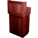 AmpliVox SN3010-MH Oxford Two-Piece Lectern Without Sound - Mahogany