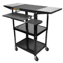 Amplivox SN3370 Adjustable Height Metal Workstation with laptop shelf