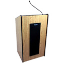AmpliVox SW450-OK Presidential Plus Lectern - Wireless Sound - Oak