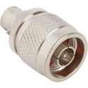 Amphenol 031-216-RFX N-Type PI to BNC Jack 50 Ohm Straight Adapter