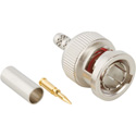 Amphenol 112521 75 Ohm Straight Crimp Plug BNC Connector for RG-180/RG-195/Belden 1855A & 8218