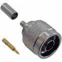 Amphenol 82-5375 N-Type Straight Crimp Plug for RG-58 RG-58A RG-58B RG-58C RG-141 RG-141A - 50 Ohm